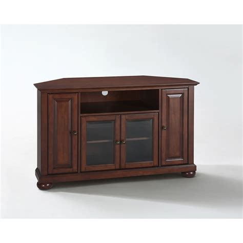 Furniture Corner Tv Stand by Alexandria 48 Inch Corner Tv Stand In Vintage Mahogany