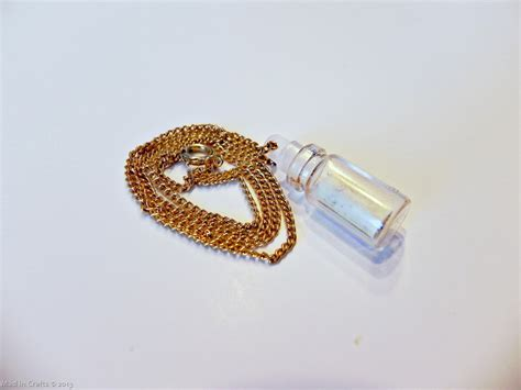 In The Bottle Necklace make a message in a bottle necklace 187 dollar store crafts