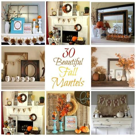 beautiful diy home decor 30 beautiful fall mantel displays