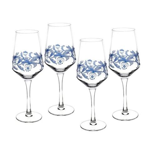 spode glasses spode blue italian wine glasses set of 4 39 99 you save