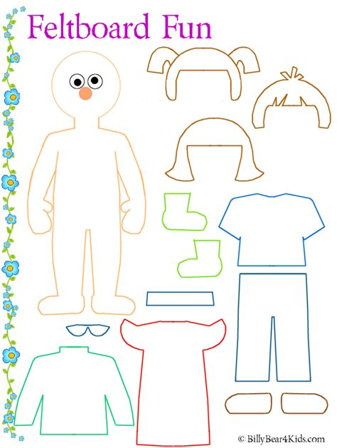 felt dress up doll template dress up person template preschool felt boards