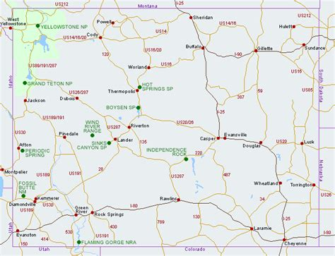 detailed map of wyoming wyoming map my