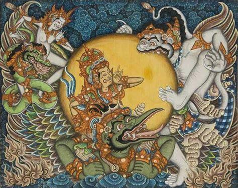 Lukisan Tradisi Kremasingaben Bali musim puri lukisan di ubud bali lukisan