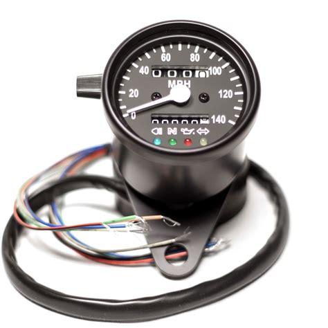 "2.5"" Black Mini Speedometer with Black Face LED Indicator"