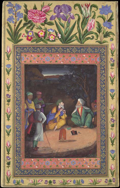 painting  muhammad zaman  nighttime gathering
