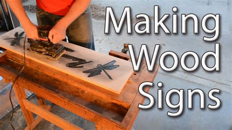woodworking sign wood signs with a router
