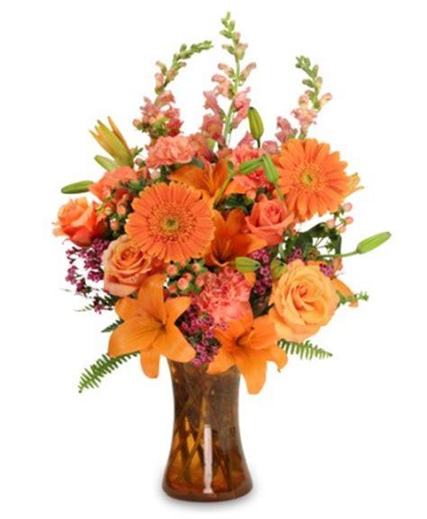 unique flower arrangements orange unique floral arrangement in waco tx wolfe florist
