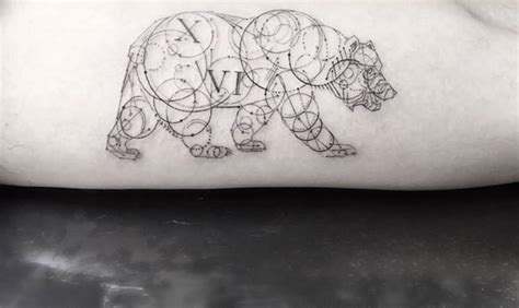 simple bear tattoo 30 awesome geometric design made golfian