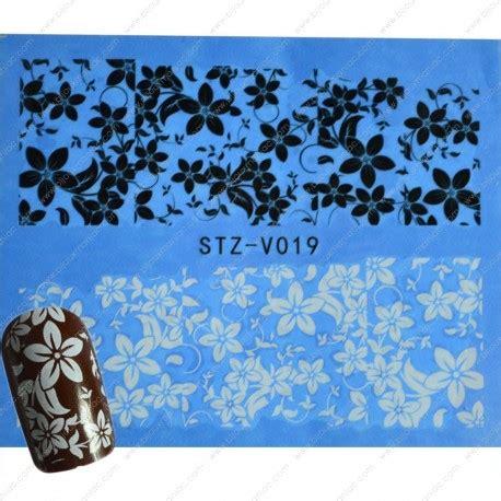 Deco Fleur Ongle by D 233 Coration D Ongles Fleurs Noires Et Blanches