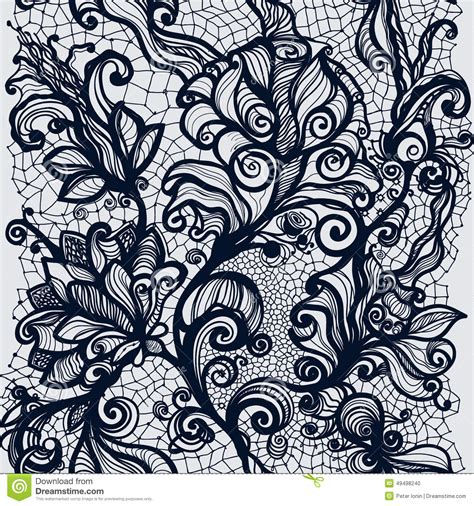 lace template abstract lace ribbon vertical seamless pattern stock