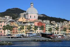 sextant genoa painted palace facade royalty free stock photography