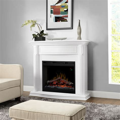 electric fireplaces with mantle gwendolyn electric fireplace mantel package in white