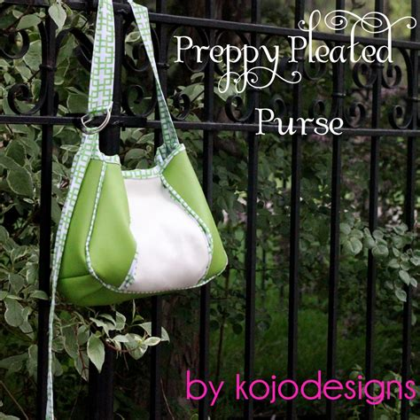Pretty Purses To Peruse by Kojo Tutorial Preppy Pleated Purse