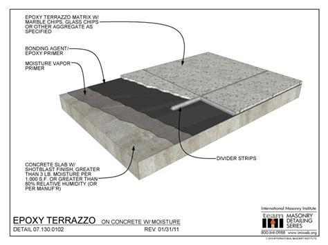 07 130 0102 epoxy terrazzo concrete w moisture