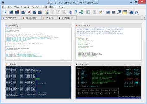 ssh console zoc screenshot and at snapfiles