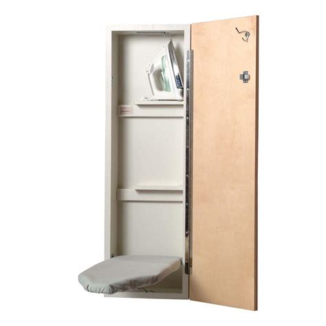 Ironing Board Storage Cabinet Iron A Way Non Electric Ironing Center Door And Exterior Of Cabinet Is Unfinished Wood