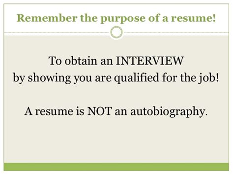 Purpose Of Resume by What Is The Purpose Of A Resume Resume Ideas