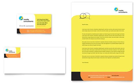 business letterhead templates indesign social media consultant business card letterhead
