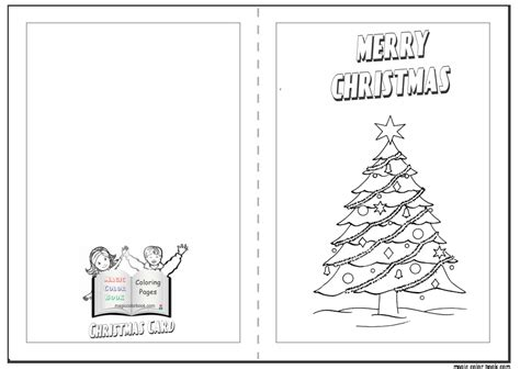 Coloring Page Christmas Card Free Coloring Pages Pages Card Templates