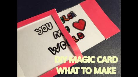 make magic card what to make diy magic color changing card