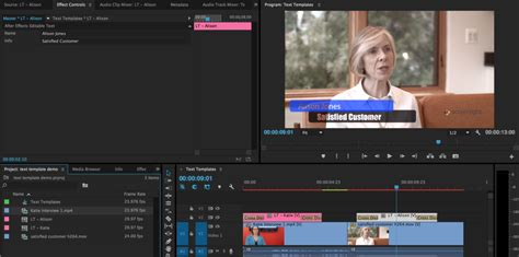 Creating After Effects Text Templates For Premiere Pro Video Review Approval Premiere Pro Photo Template