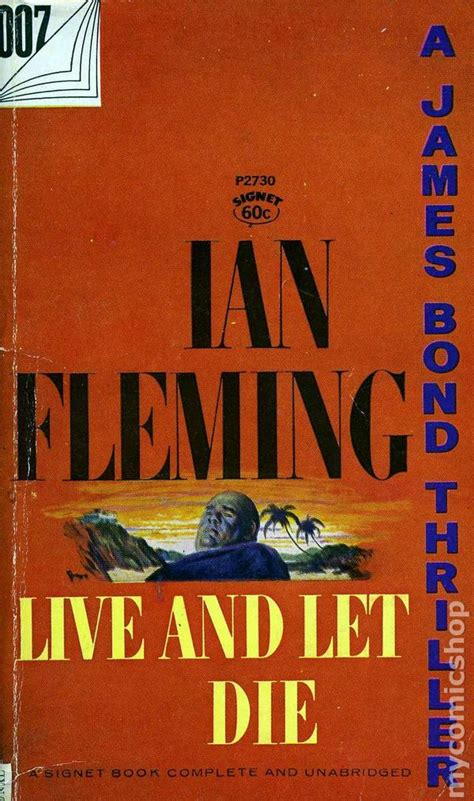 just let me live books bond 007 live and let die pb 1959 signet novel