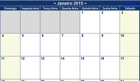 Calendario 2015 Excel Calend 225 2015 No Excel Na