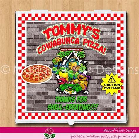 Turtle Pizza Box Label Free