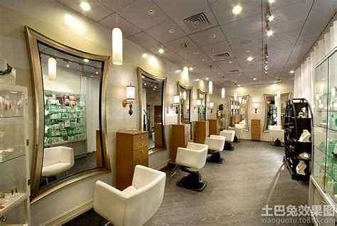 cozy hair salon ideas with luxury interior design using 美发店20平方装修图 土巴兔装修效果图