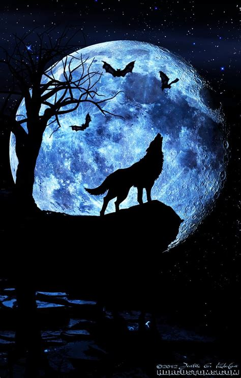 wolf moon tattoo pinterest