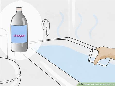 ways  clean  acrylic tub wikihow