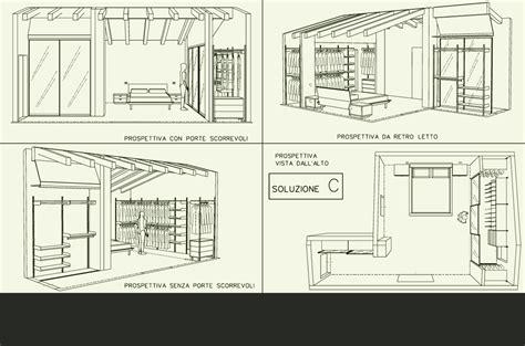 progetti cabine armadio disegni cabine armadio design casa creativa e mobili