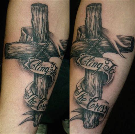 wooden cross tattoo wooden cross tattoos tattoos of crosses