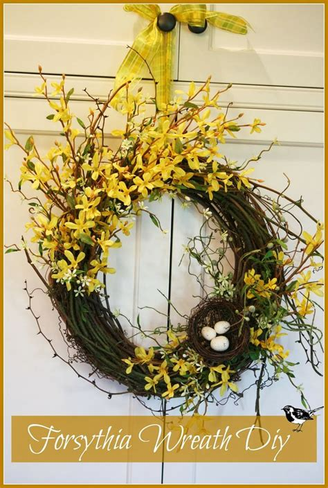diy spring wreath ideas whimsical spring forsythia wreath just easy to make and soooo fabulous for spring front door
