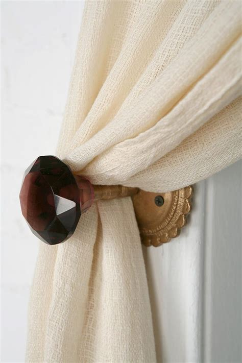 Door Knob Curtain Tie Backs by Door Knob Curtain Tie Back