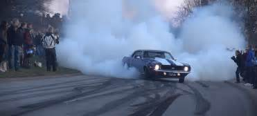 Car Tires Are Loud Great Of Powerslide And Burnout By A 1969 Chevy