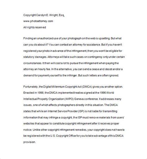 dmca notice template dmca notice 15 free sles exles format
