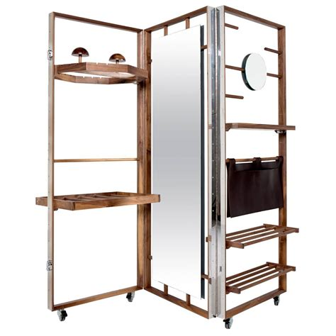 Expandable Room Divider Expandable Cloth Valet Room Divider In Walnut By Naihan Li For Sale At 1stdibs