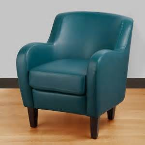 Turquoise accent leather chair living room furniture tv family modern