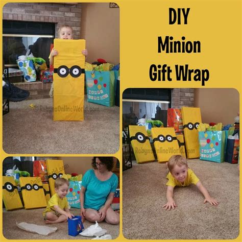 minion gift wrap diy minion gift wrap robynsonlineworld
