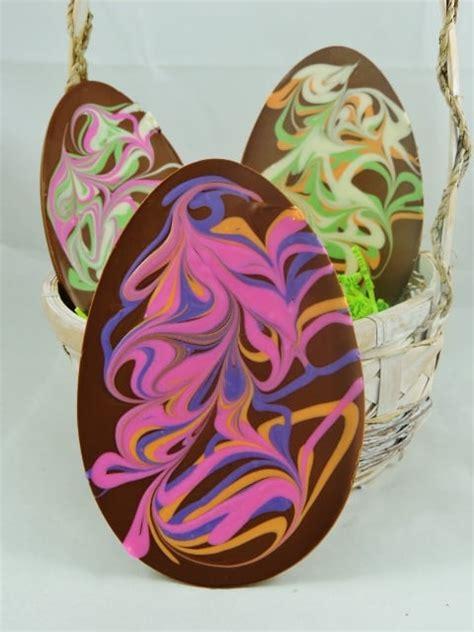 Handmade Chocolate Easter Eggs - chocolate easter egg handmade pastel swirls 6 oz