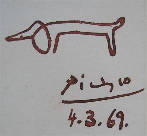 dachshund drawing picasso www imgkid com the image kid