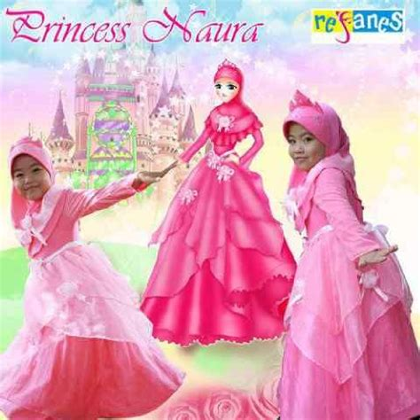 Gamis Merlin By Yulia Batik baju muslim anak modern naura princess kaoskeren net