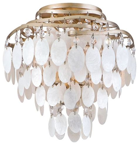 dolce capiz shell 12 quot wide semiflush ceiling light