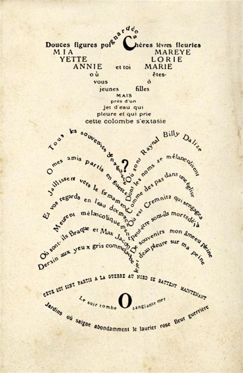 calligrammes by guillaume apollinaire calligrammes guillaume apollinaire indeterminacy