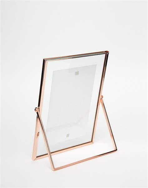 paperchase paperchase copper photo frame 4x6 at asos