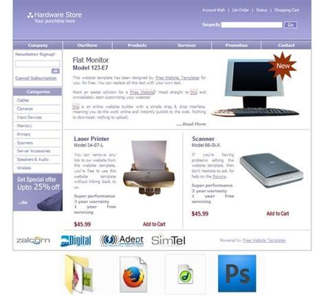 Computer Hardware Template Computer Hardware Components Computer Computer Inventory Laptop Website Templates Free
