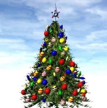 pohon natal kumpulan gambar