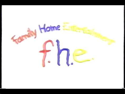 f h e family home entertainment 1993 company logo