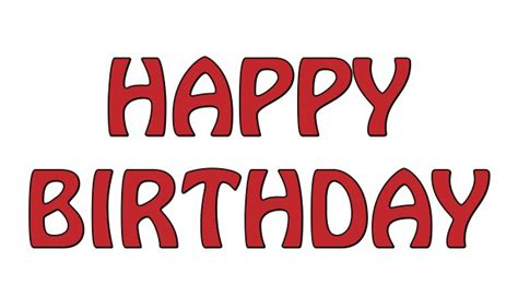 happy birthday red design happy birthday text red free stock photo public domain